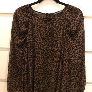 Zara Leopard Print Blouse